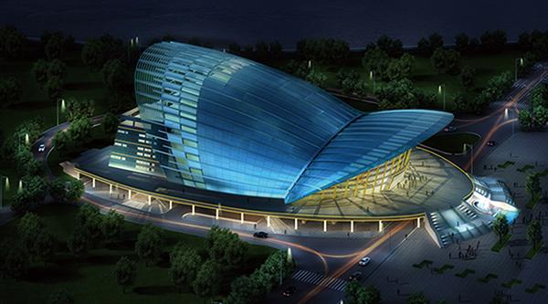 中国婺剧院泛光灯