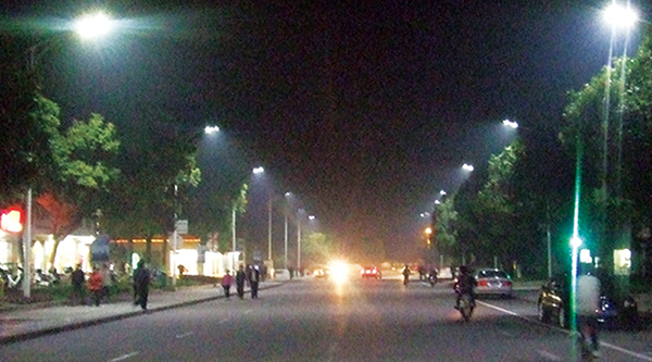 巨化集团中央大道照明